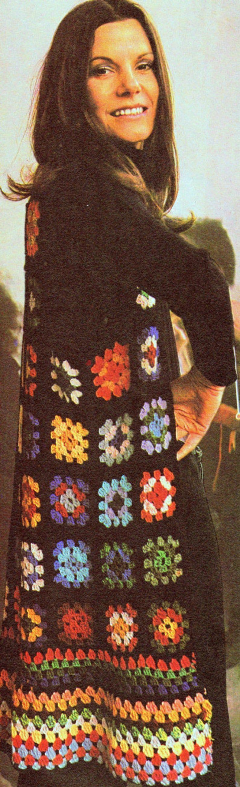 Photo of CROCHET PATTERN Long Waistcoat in Granny Squares Tunic   Etsy #häkelanleitungen…