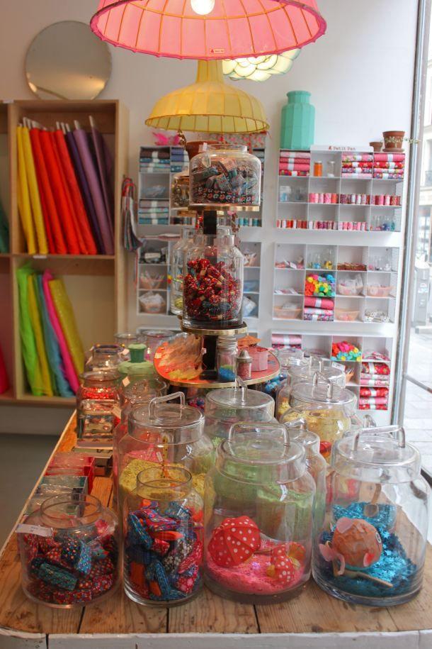 Petit pan rue fran ois miron 4 me vivre en multicolore mercerie accessoires linge de - Linge de maison paris ...