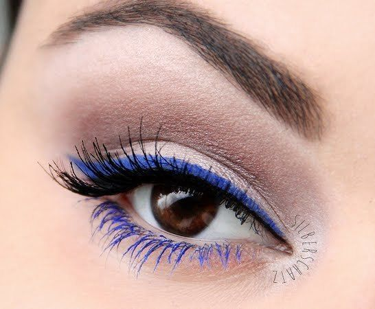 Image result for blue color mascara