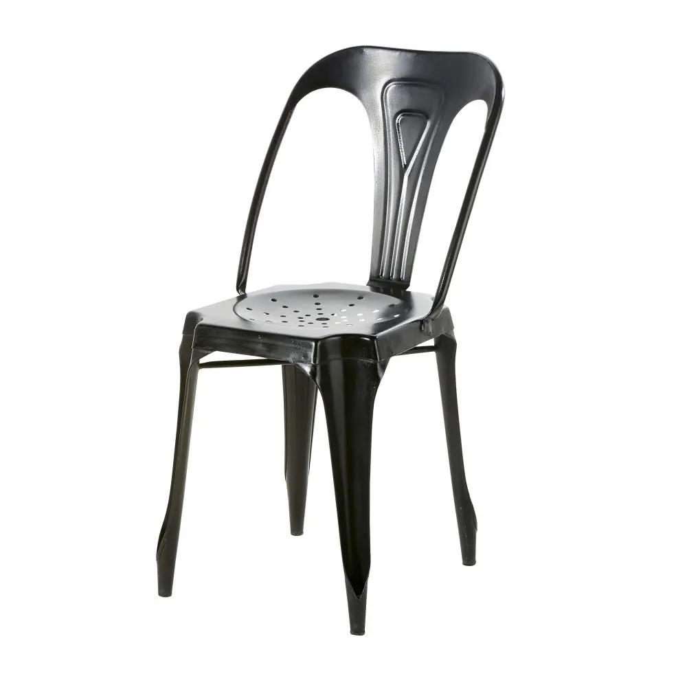 Metall Gartenstuhl Im Industriestil Schwarz Multipl S Maisons Du Monde Garden Chairs Chair Garden Chairs Metal