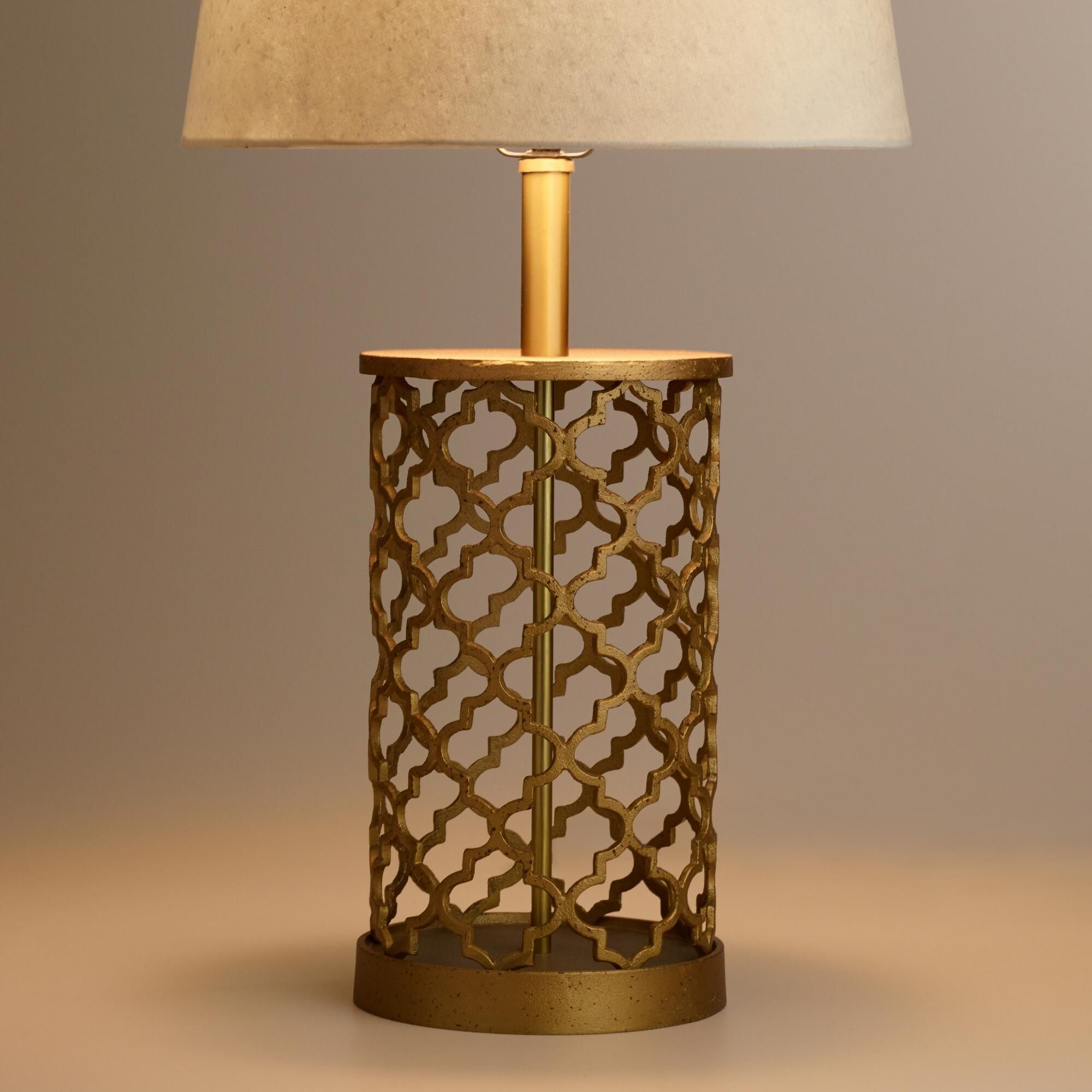 Great Distressed Gold Moroccan Table Lamp Base