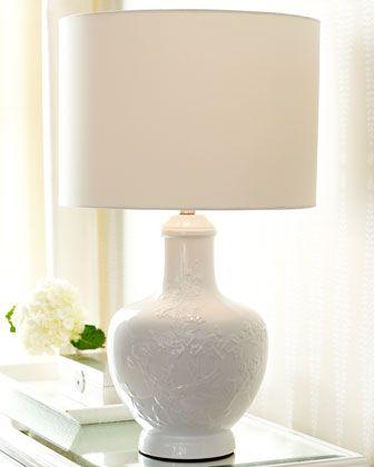 Haeger Potteries White Ceramic Soft Rectangle Table Lamp 41026 Lamps Plus Lamp Table Lamp White Ceramic Lamps