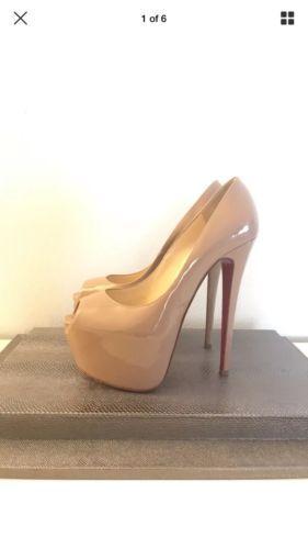 43b3779872f Christian Louboutin Highness 160 Nude Pumps Heels 38.5 Daffodile ...
