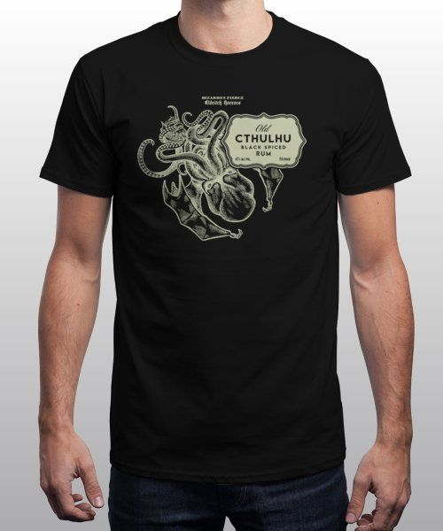 """""""Eldritch Rum"""" is today's £9/€11/$12 tee for 24 hours only on Pin this for… 