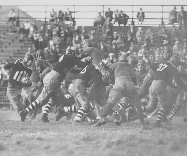 Oct 12 1929 Providence College 0 Vs Canisius College 0 Mickey Foster Providence Is Stopped At The L Football Pictures Providence College Football Team