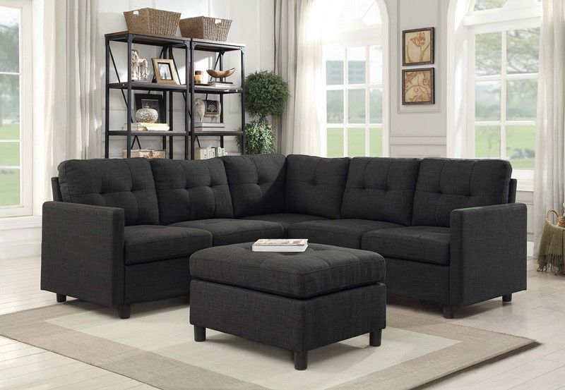 889 99 Sales 7pcs Modern Reversible Sectional Sofa Couch Chaise