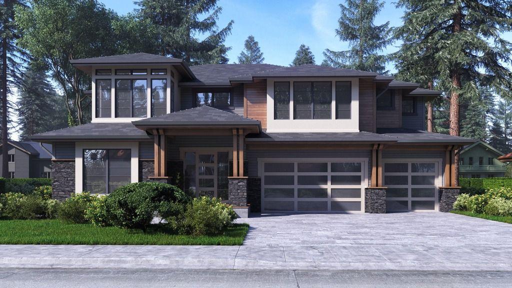 Contemporary Style House Plan 4 Beds 4 Baths 3450 Sq Ft Plan 1066 47 Modern Prairie Home Prairie Style Houses Garage House Plans