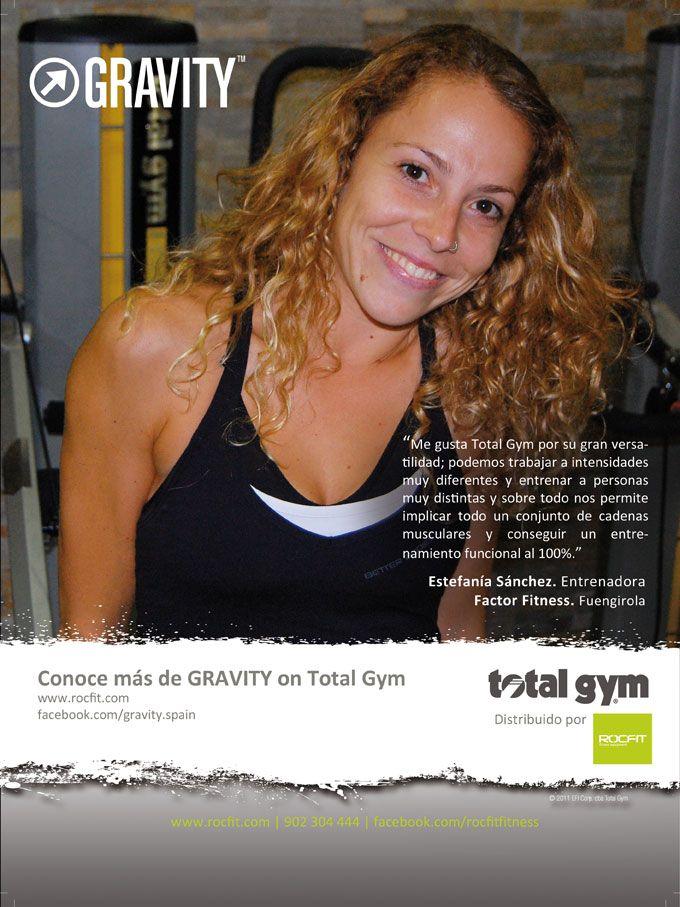 La gran versatilidad de #TotalGym y las diferentes intensidades del programa #GRAVITY son algunas de las razones por las que Estefanía Sánchez, entrenadora en Factor Fitness, está encantada con nuestros equipos.