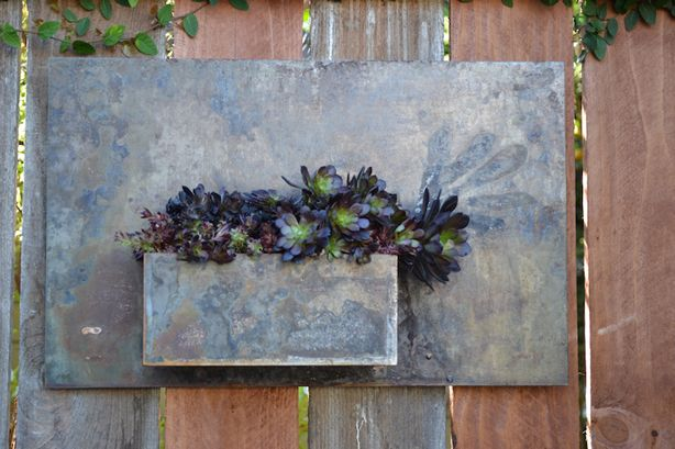 love this wall planter from the design team at potted 14 gauge rh pinterest co uk Modern Planters Modern Indoor Planters