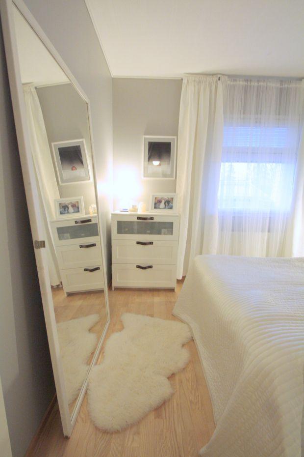 Poignées en cuir sur meuble IKEA BRIMNES | Bedrooms and Room