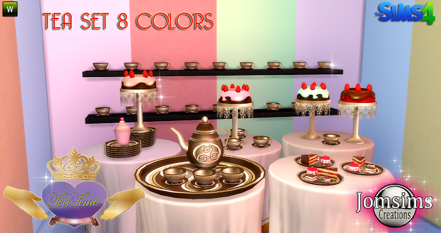 Sims 4 CC's - The Best: Tea Time Set by Jomsims