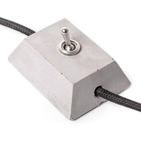 warum einen faden plastik lichtschalter kaufen wenn man sich einen coolen aus beton gie en kann. Black Bedroom Furniture Sets. Home Design Ideas