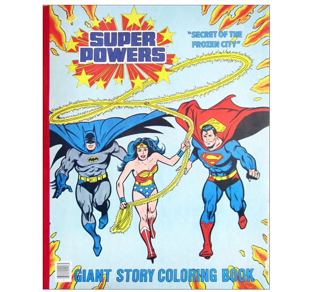 super powers secret of the frozen city giant coloring book 1984