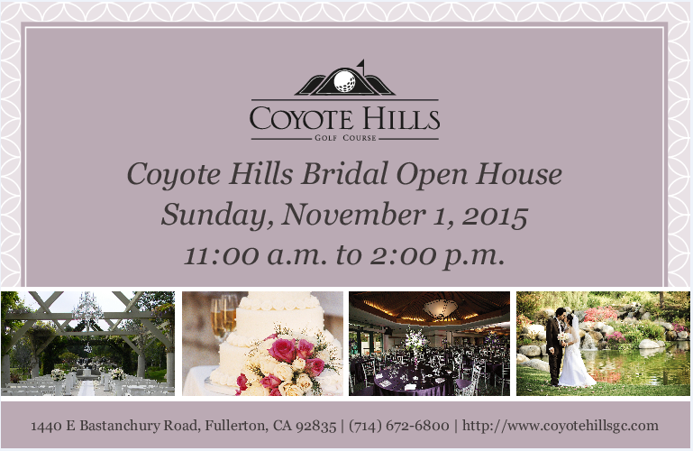 Coyote Hills Bridal Open House Country Club Receptions Wedding