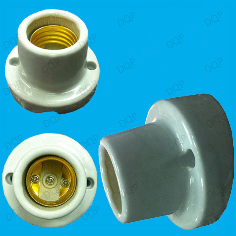 Edison Screw E27 Ceramic Socket Bulb Holder Lamp Base Bracket for Heat Lamp