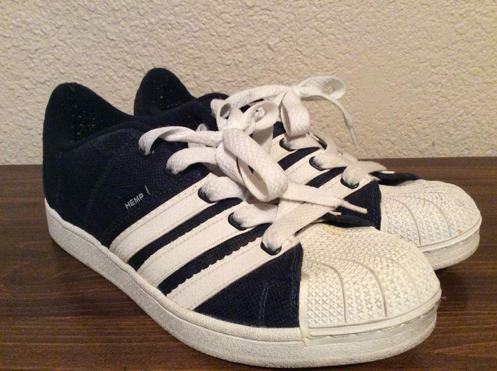 Rare Adidas Blue Hemp Tennis Skate Shoes Shell Toe Mens Size 12  adidas   TennisShoes c44756964