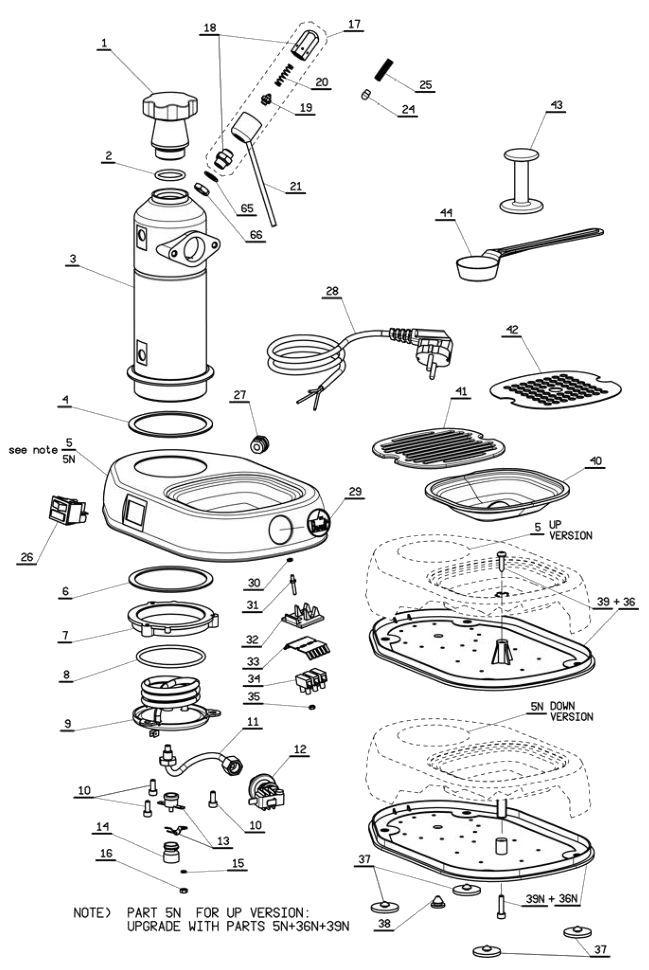 Pavoni Lever Parts Diagram Coffee Coffee Espresso