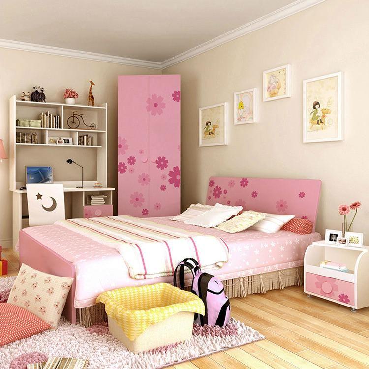 Elegant Girls Bedroom Ideas: Nice Teenage Girl Bedroom Interior Design With Pink Floral