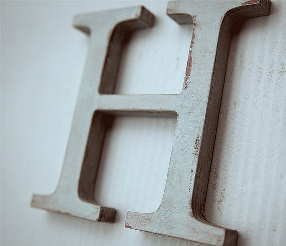 Wooden Alphabet Letters   Vintage Decorative Letter H Modern Home Decor For  Wall Custom Colors Wood