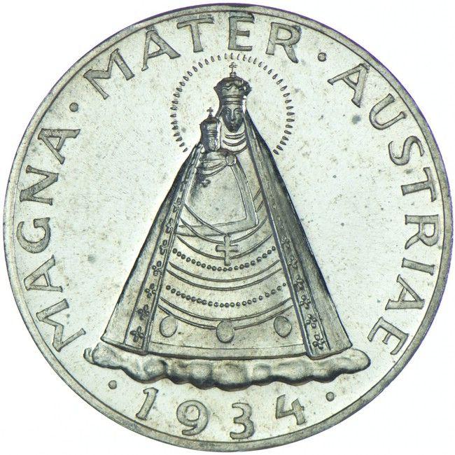 1 Republik Bundesstaat 1918 1938 5 Schilling 1934 Silber Magna