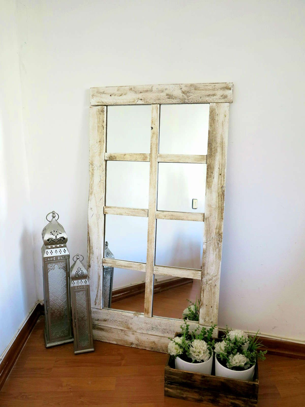 El paso a paso para hacer un espejo a modo de ventana | Pinterest ...