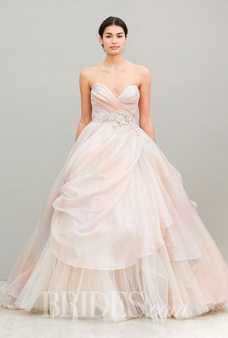 lazaro spring 2016 blush pink ball gowns and wedding