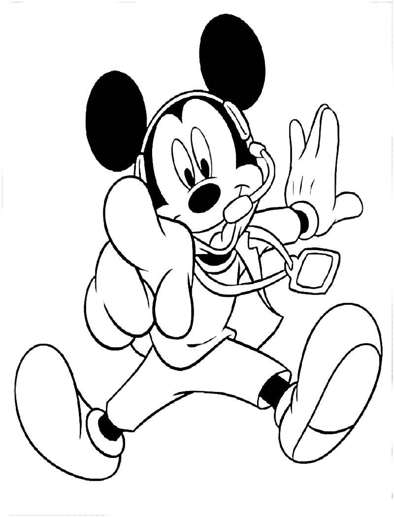 Mickey Mouse Para Colorear E Imprimir With Images Mickey Mouse