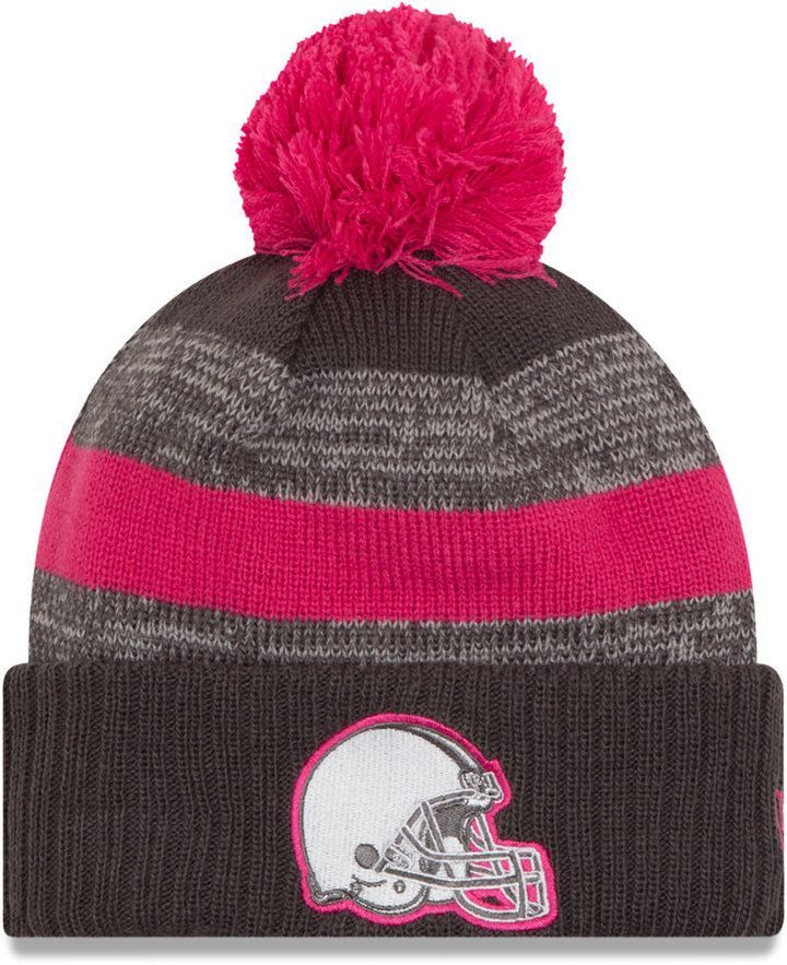 half off 1069b f4199 New Era Cleveland Browns Bca Sport Knit Hat. New Era Cleveland Browns Bca  Sport Knit Hat Heather Gray, Breast Cancer Awareness ...