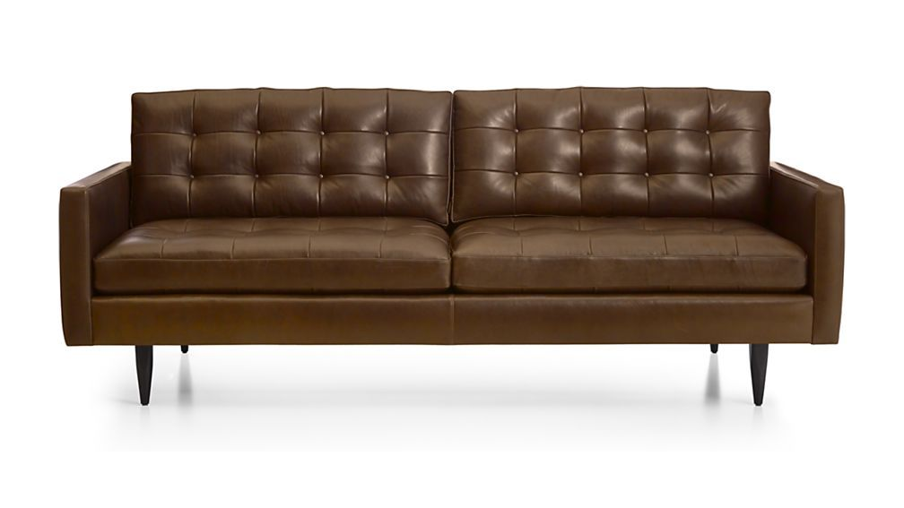 Petrie Leather Sofa Crate And Barrel