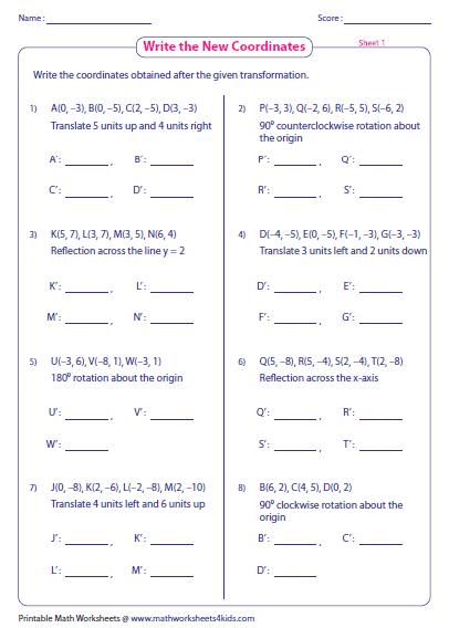 rotations worksheet 8th grade – streamclean.info