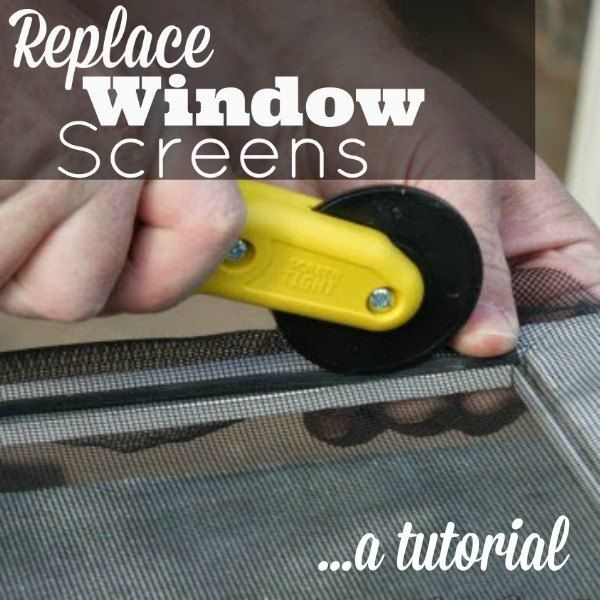 Now That Spring Has Arrived We Like To Open Our Windows And Let Some Fresh Air In The House The Problem Is Diy Home Repair Window Screens Window Replacement