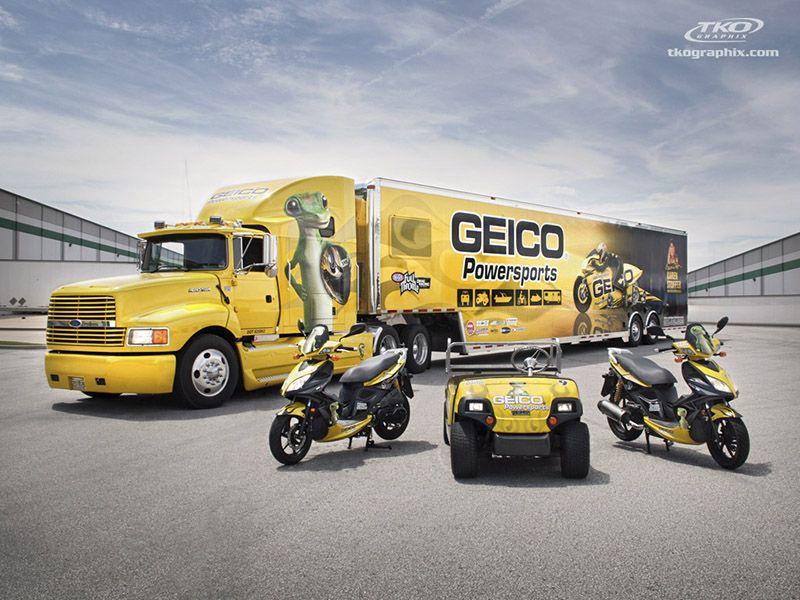 Photo Blog Geico Powersports Wraps Truck Lettering Car Wrap