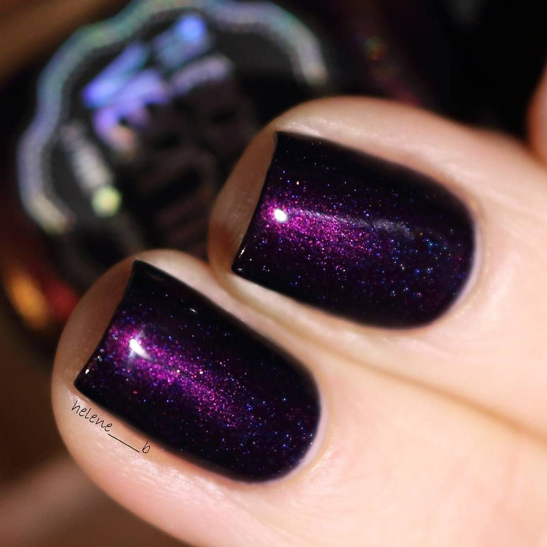 Iletaitun vernis in \'teach me tonight\'   dark purple nail polish ...