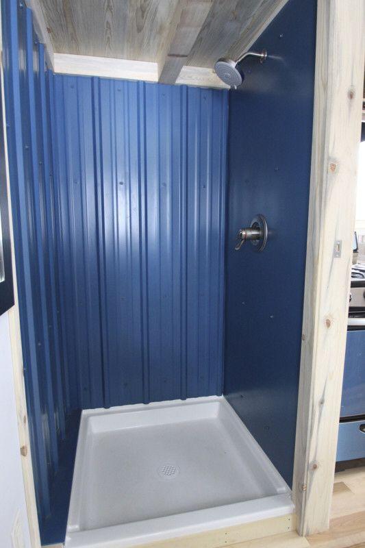 Simblissity tiny house shower | bathroom idea\'s | Pinterest | Tiny ...