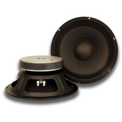 """Seismic Audio - Quake_10Pair_4ohm - Pair of 10"""" Raw Woofers Speakers Drivers PRO AUDIO PA DJ Replacement - 4 Ohms by Seismic Audio. $79.99. Pair of 10"""" PA Replacement Woofer - 4 OhmsModel #: Seismic Audio - QuakeTM 10 (pair)10"""" Woofer/Speaker50 oz Magnet with 2.5"""" voice coil125 Watts RMS, 250 Watts PeakImpedance: 4 OhmsFrequency response: 65Hz to 5KHzSensitivity: 98dbPressed Steel ChassisPaper ConeWeight: 9 lbs eachCondition: NEWOne year warrantyWhether you are building your ow..."""