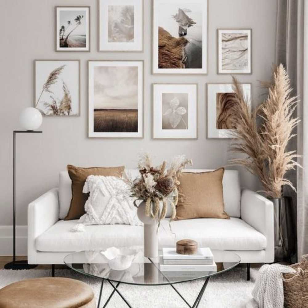 A Slow Atmosphere In The Living Room Gallery Wall Living Room Home Living Room Home Decor