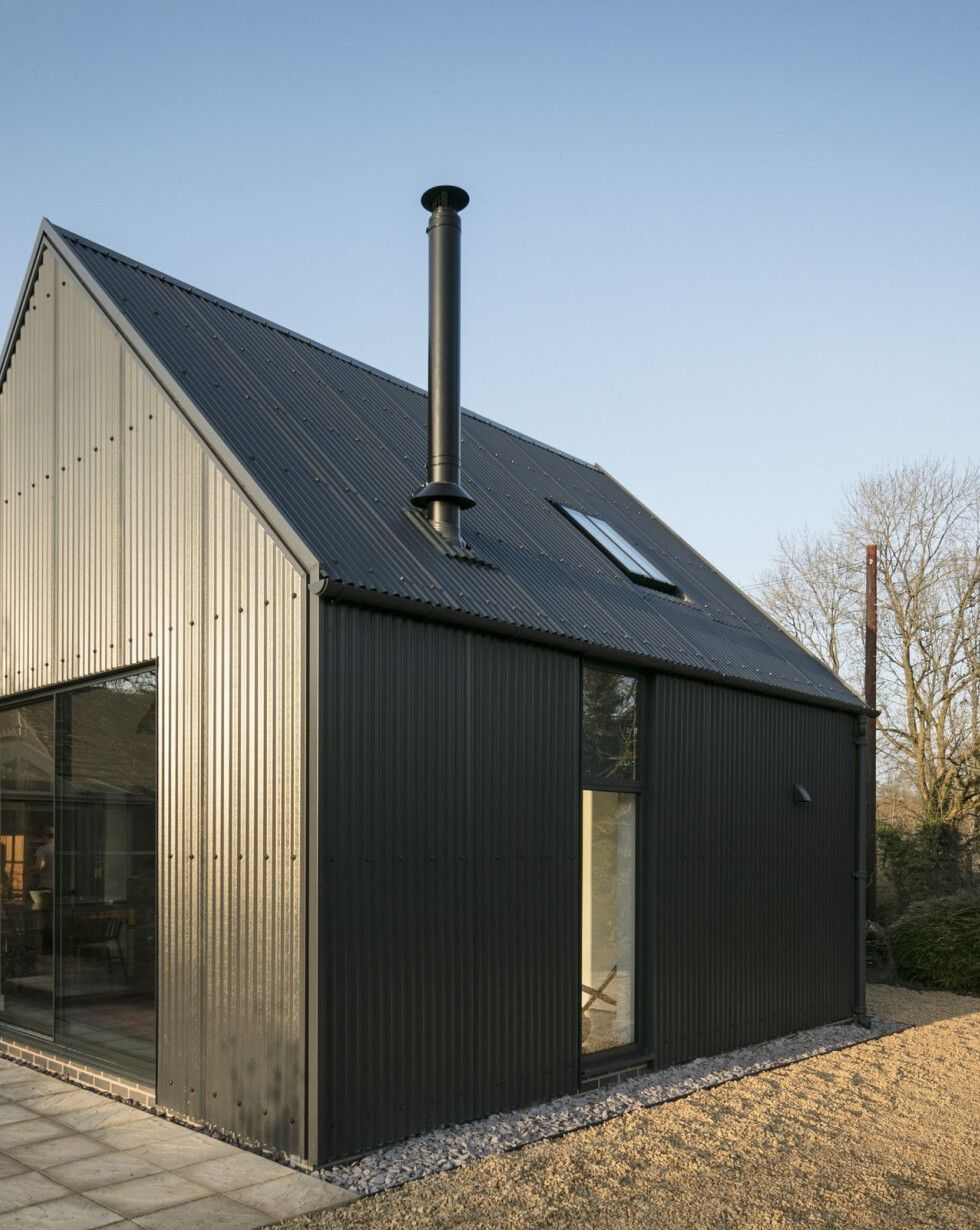 Corrugated Metal Extension Eastabrook Architects Archello In 2020 House Cladding Modern Barn House Architecture