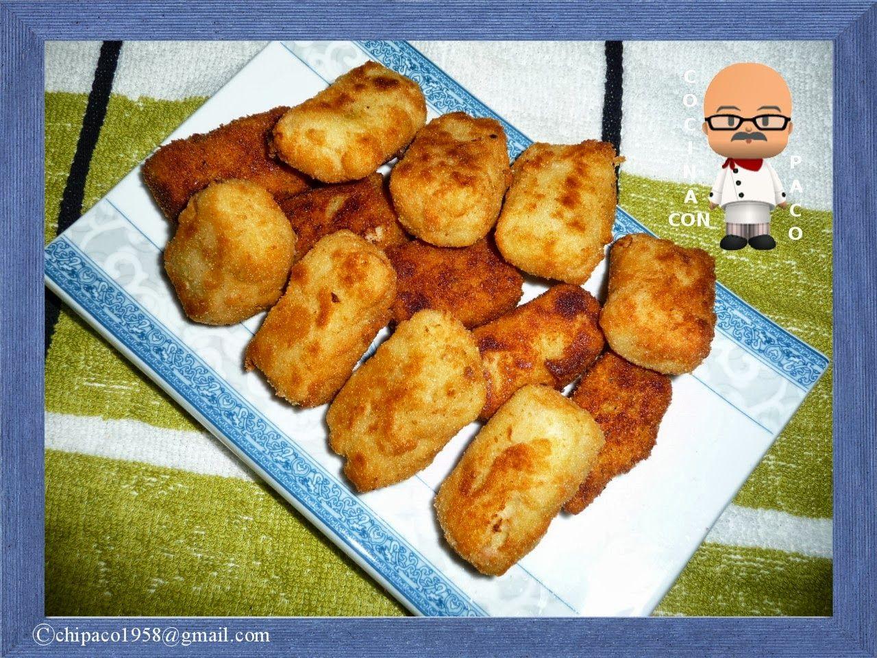 Cocina con paco croquetas de pollo jam n y calabac n - Cocina con paco ...