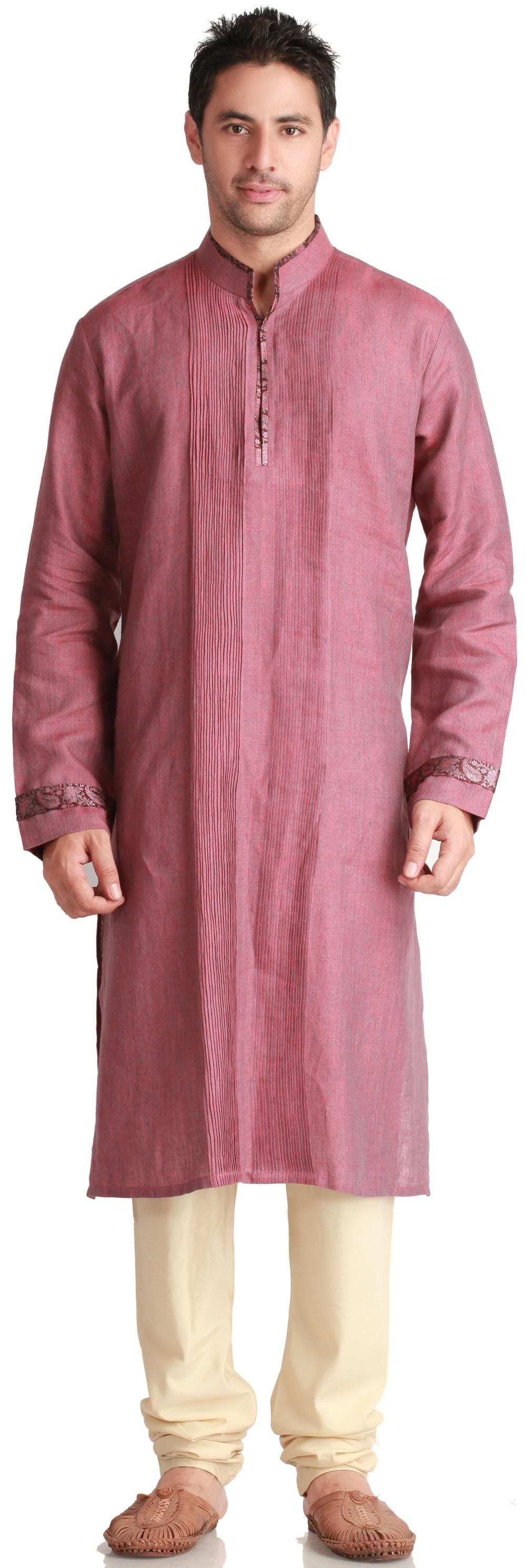Silk Pintuck Kurta - #Kurtas - MEN\'S WEAR// si me lo pongo ...