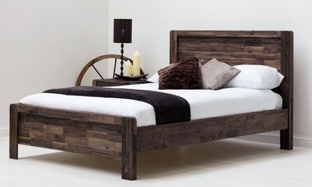 Acacia Wood Bed Frame Groupon 4posterbeds Pinterest