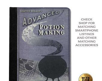 Advanced Potion Making Handbook Harry Potter inspired Leather ipad case (ipad 2 3 4, air, mini, Kindle Fire, paperwhite)
