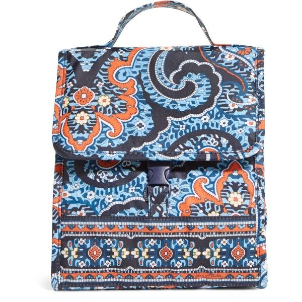 Vera Bradley Lunch Sack Bag in Marrakesh ($17) ❤ liked on Polyvore featuring home, kitchen & dining, food storage containers, marrakesh, lunch bag, vera bradley, lunch sack, vera bradley lunch sack and brown lunch bags
