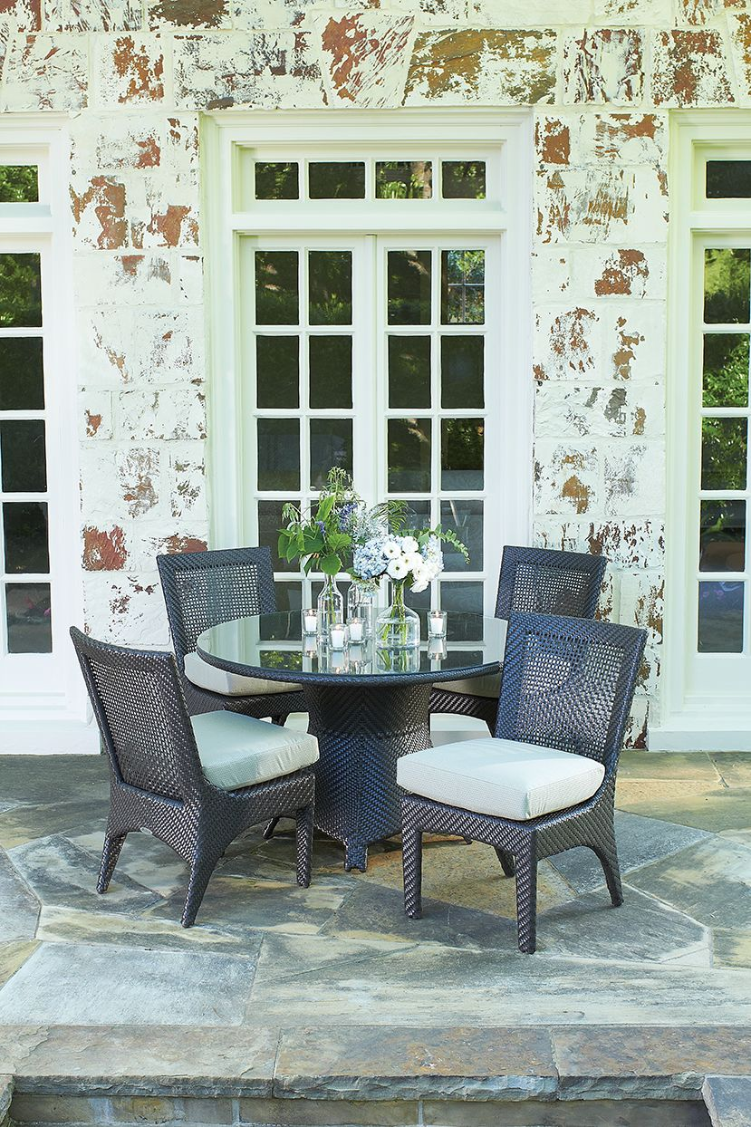 Outdoor wicker dining furniture - Trinidad collection from Whitecraft by  Woodard. - Outdoor Wicker Dining Furniture - Trinidad Collection From