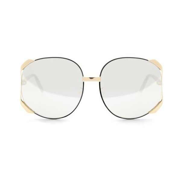ca821e9a9f LOEWE Alejandra Sunglasses Gold (€420) ❤ liked on Polyvore featuring  accessories