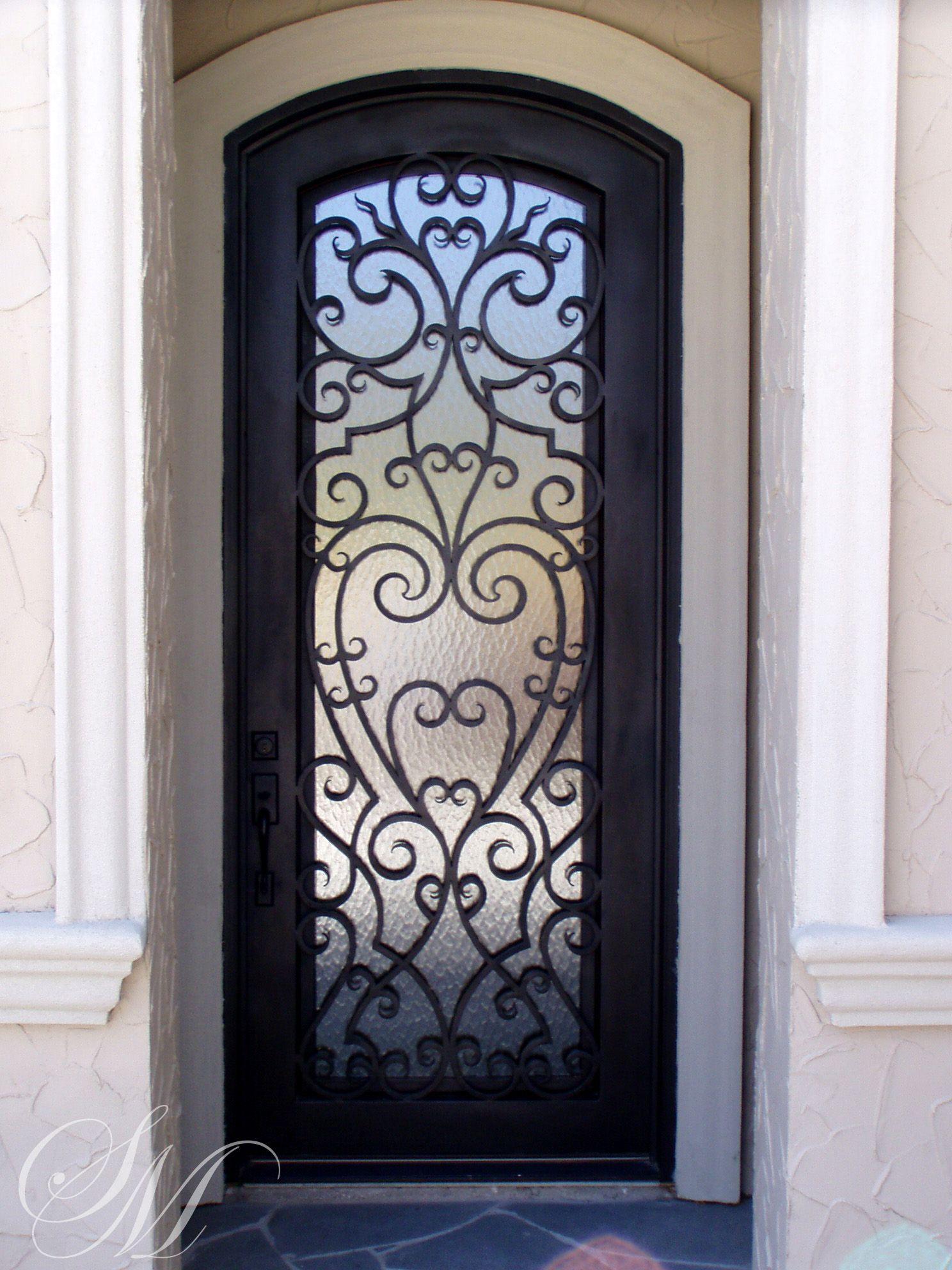 Single Eyebrow Top Iron Door By San Marcos Iron Doors