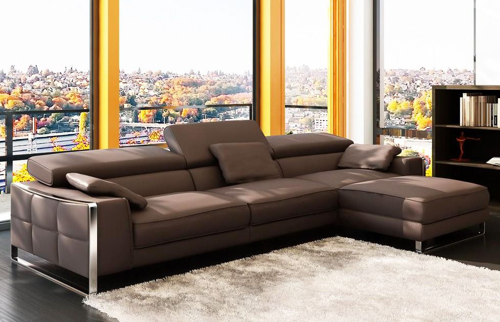 Modern Leather Sectional Sofa Flavio Leather Sectionals Modern