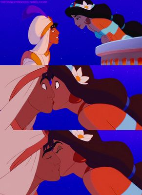 19 A Moment That Makes You Happy Aladdin And Jasmine S Kiss 3