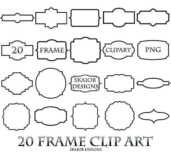 Frame Clipart Digital Frame Clip Art Border Label Scrapbooking Elements Bracket Frame Clip Art Frame Clipart Art