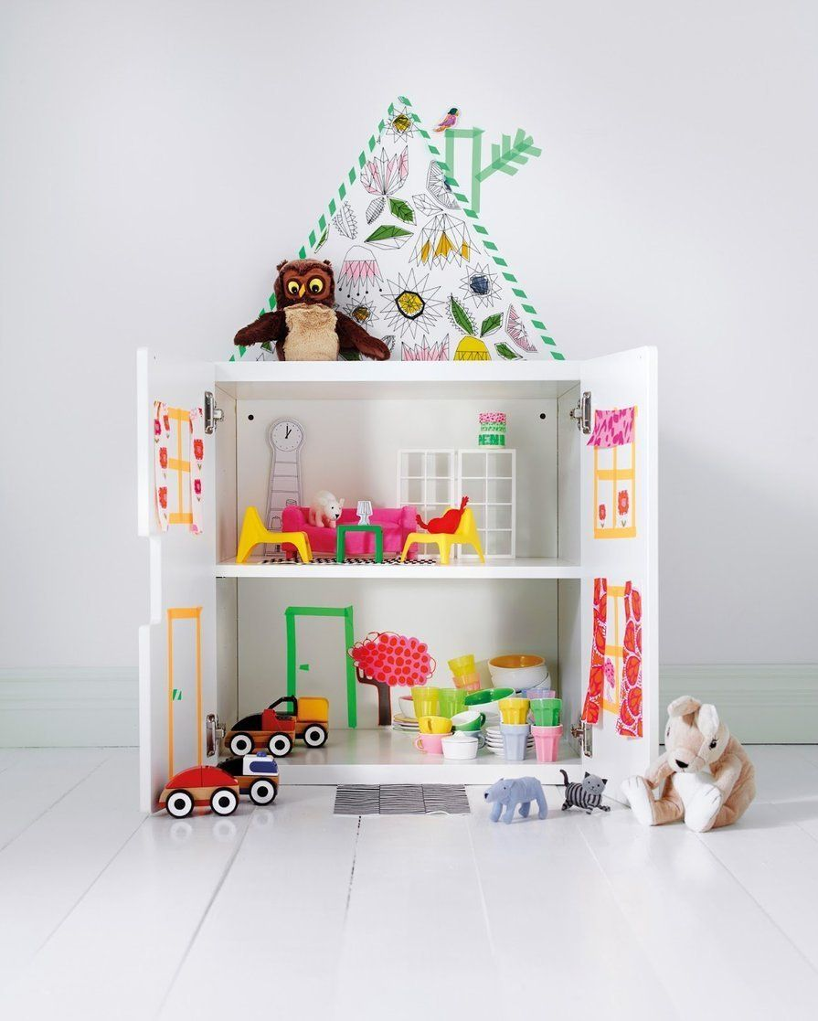 Ikea Schrank Rückwand 10 Ikea Products Turned Into Dollhouses Kinderzimmer Pinterest