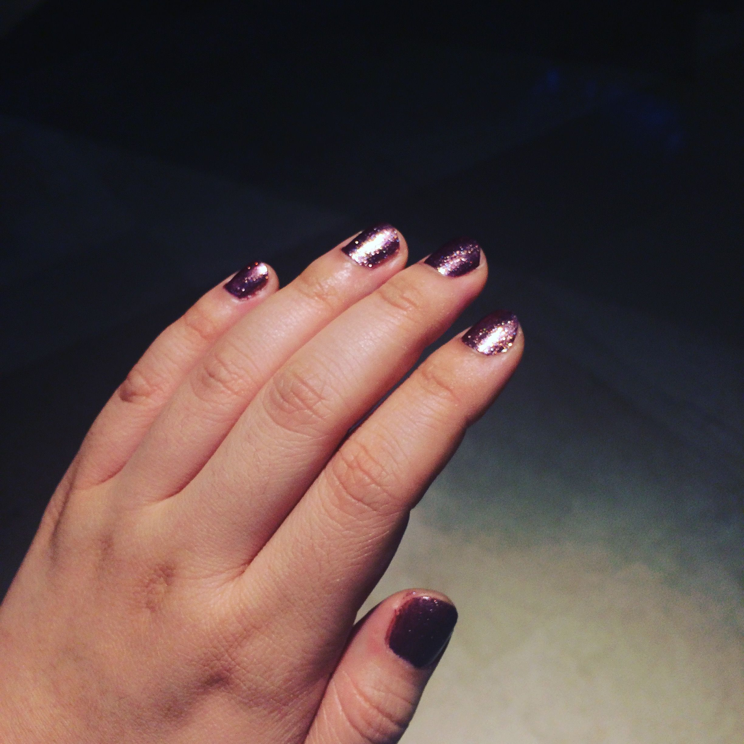 Rose Gold Nails By Cuccio Color Coffee Tea Or Me Non Gel Colored By Queen Nail Spa Jakarta Indonesia